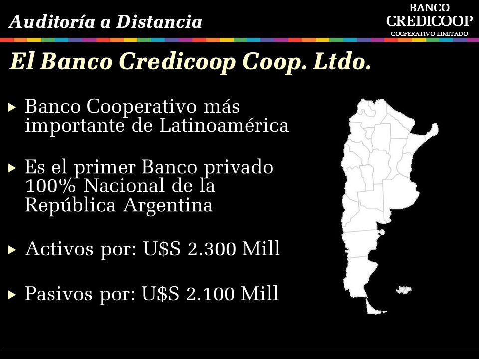 El Banco Credicoop Coop. Ltdo. Banco Cooperativo más importante de Latinoamérica Es el primer Banco privado 100% Nacional de la República Argentina Ac