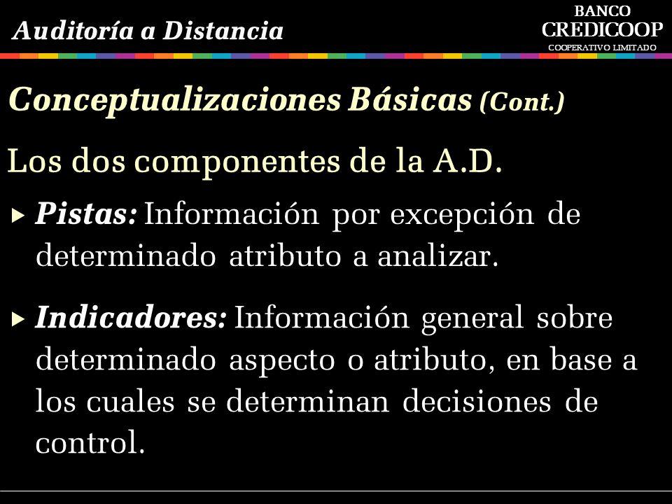 Pistas: Información por excepción de determinado atributo a analizar. Indicadores: Información general sobre determinado aspecto o atributo, en base a