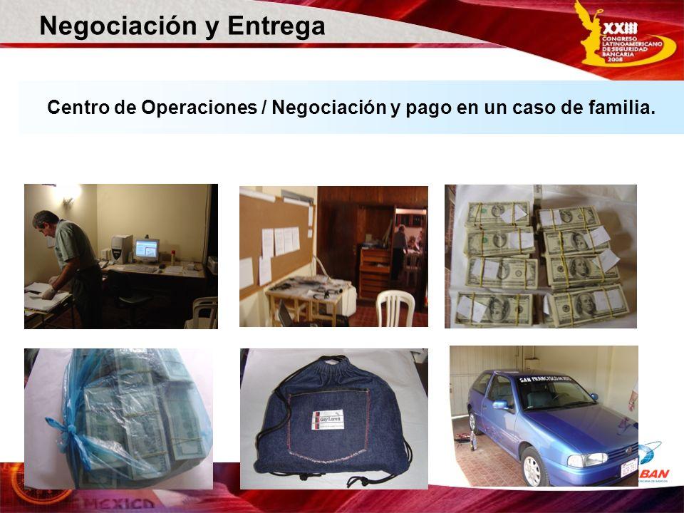 Centro de Operaciones / Negociación y pago en un caso de familia. Negociación y Entrega