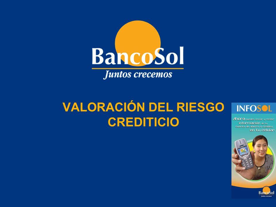 VALORACIÓN DEL RIESGO CREDITICIO