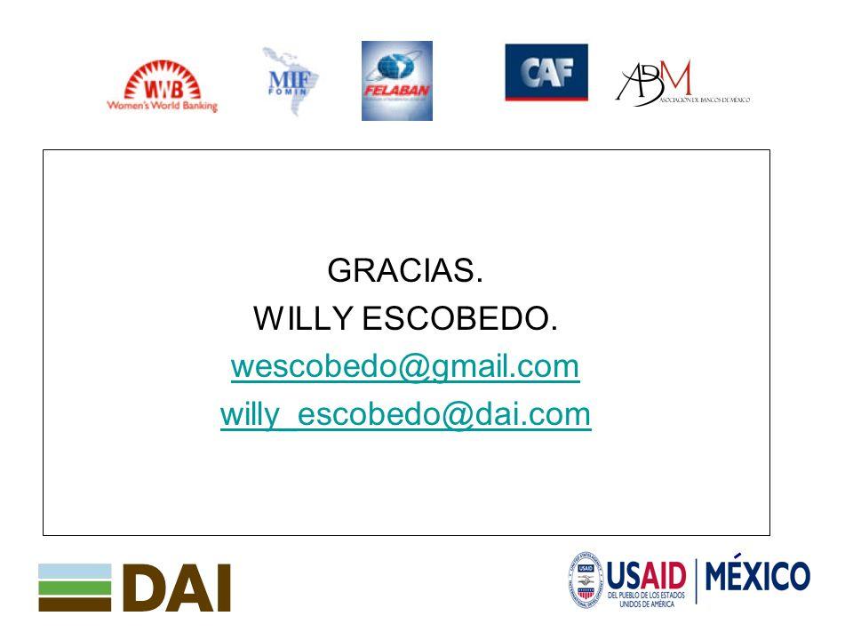 17 GRACIAS. WILLY ESCOBEDO. wescobedo@gmail.com willy_escobedo@dai.com