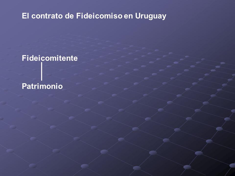 El contrato de Fideicomiso en Uruguay Fideicomitente Patrimonio
