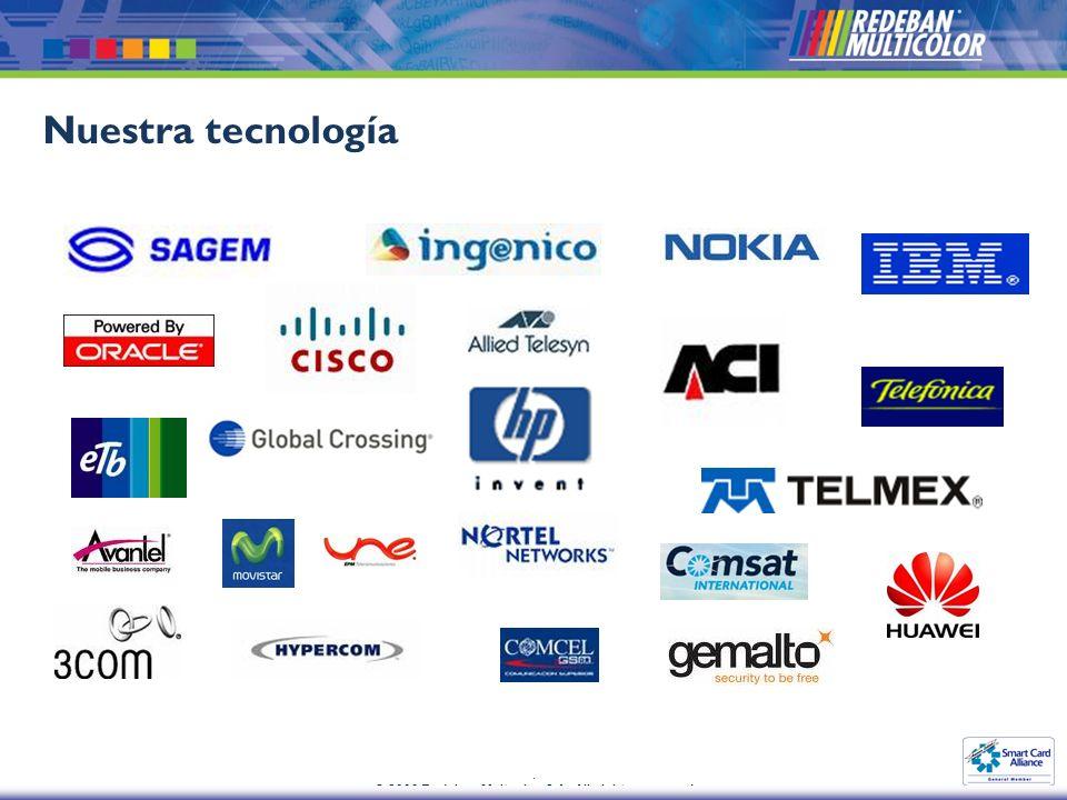 . © 2009 Redeban Multcolor S.A. All rights reserved Nuestra tecnología