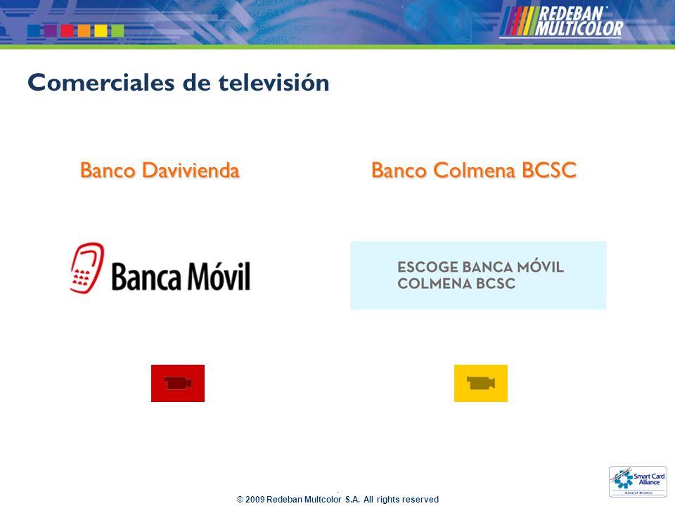 Comerciales de televisión Banco Davivienda Banco Colmena BCSC