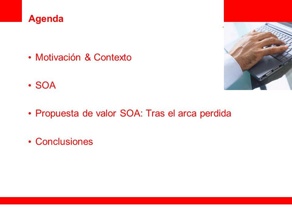 Agenda Motivación & Contexto SOA Propuesta de valor SOA: Tras el arca perdida Conclusiones