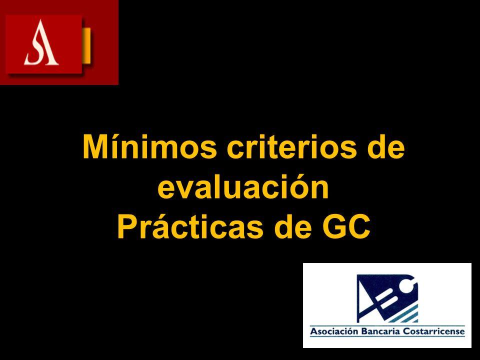 Mínimos criterios de evaluación Prácticas de GC
