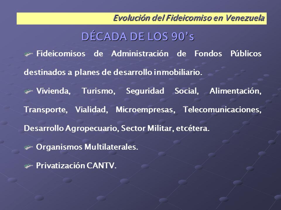 Principales Negocios Fiduciarios con Organismos Públicos en Venezuela