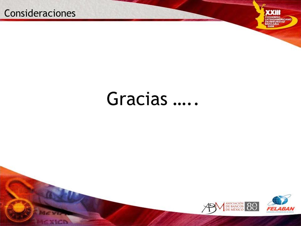 Consideraciones Gracias …..