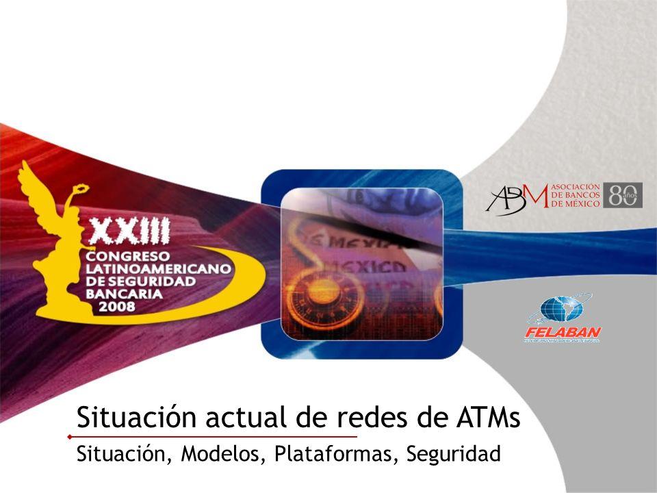 Situación actual de redes de ATMs Situación, Modelos, Plataformas, Seguridad