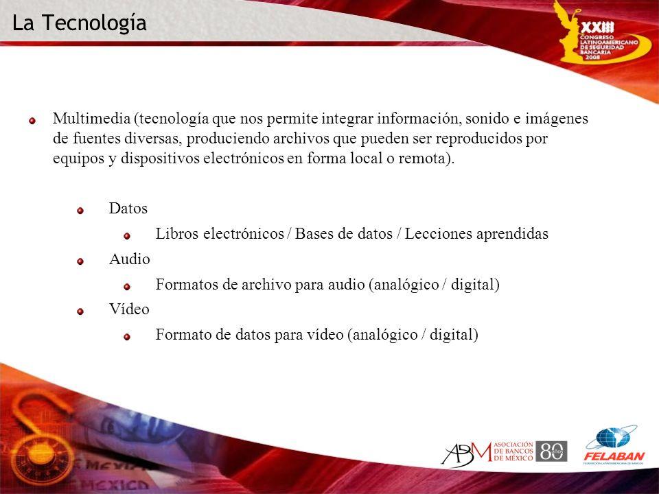 La Tecnología Multimedia (tecnología que nos permite integrar información, sonido e imágenes de fuentes diversas, produciendo archivos que pueden ser