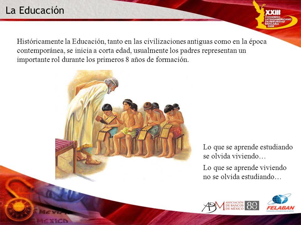 Históricamente la Educación, tanto en las civilizaciones antiguas como en la época contemporánea, se inicia a corta edad, usualmente los padres repres