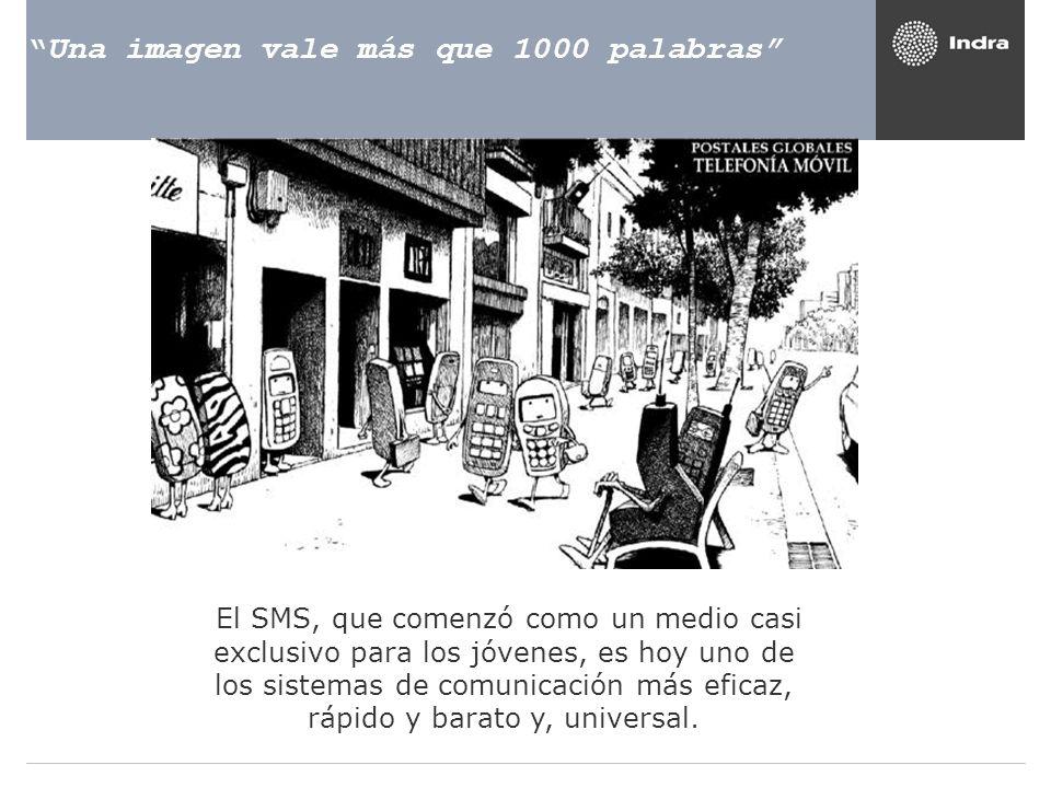 Una imagen vale más que 1000 palabras El SMS, que comenzó como un medio casi exclusivo para los jóvenes, es hoy uno de los sistemas de comunicación má