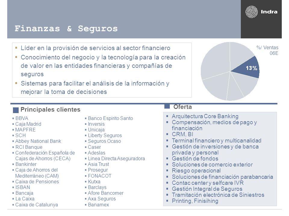 Líder en la provisión de servicios al sector financiero Conocimiento del negocio y la tecnología para la creación de valor en las entidades financiera