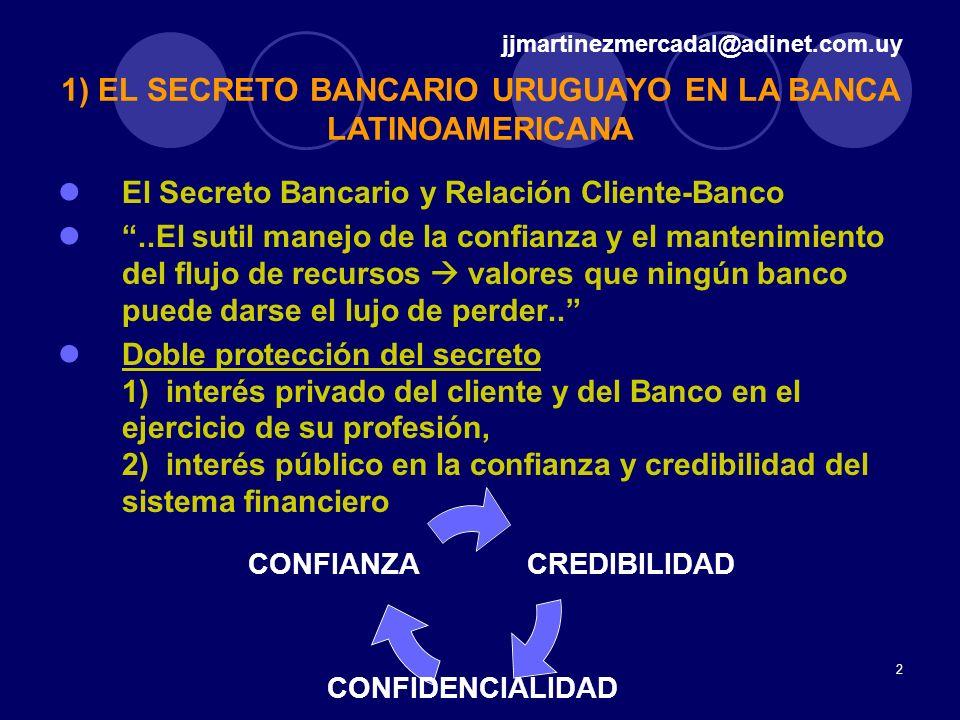 2 El Secreto Bancario y Relación Cliente-Banco..El sutil manejo de la confianza y el mantenimiento del flujo de recursos valores que ningún banco pued
