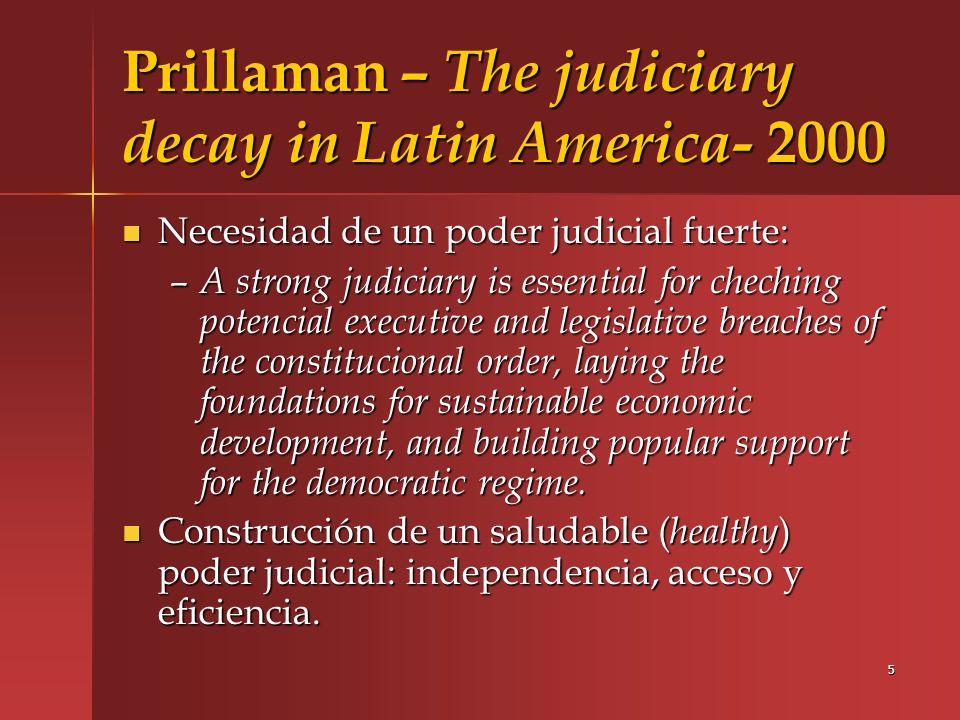 6 Buscaglia, Dakaloias y Ratliff – Judicial reform in Latin America.