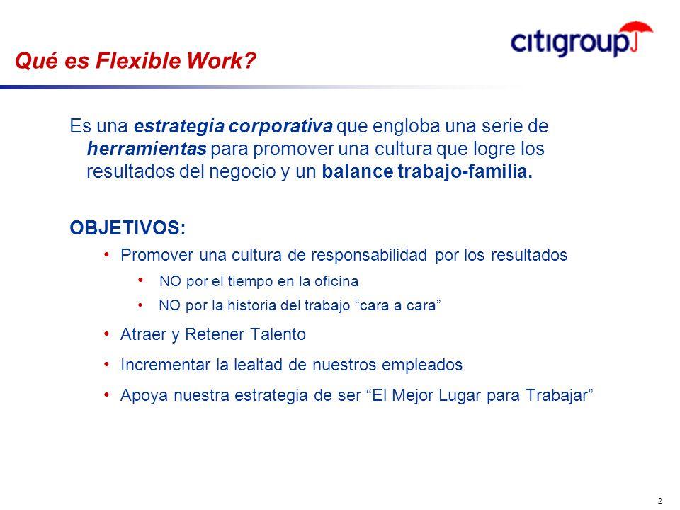 go to View, Header and Footer to set date 2 Qué es Flexible Work? Es una estrategia corporativa que engloba una serie de herramientas para promover un