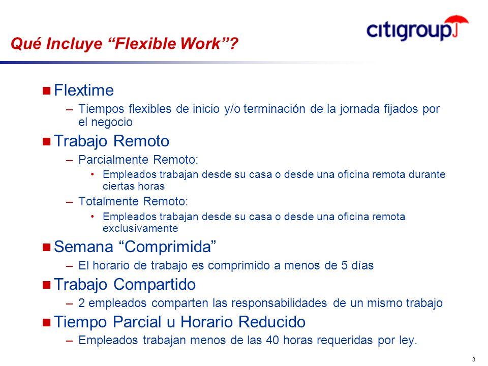 go to View, Header and Footer to set date 3 Qué Incluye Flexible Work? n Flextime –Tiempos flexibles de inicio y/o terminación de la jornada fijados p