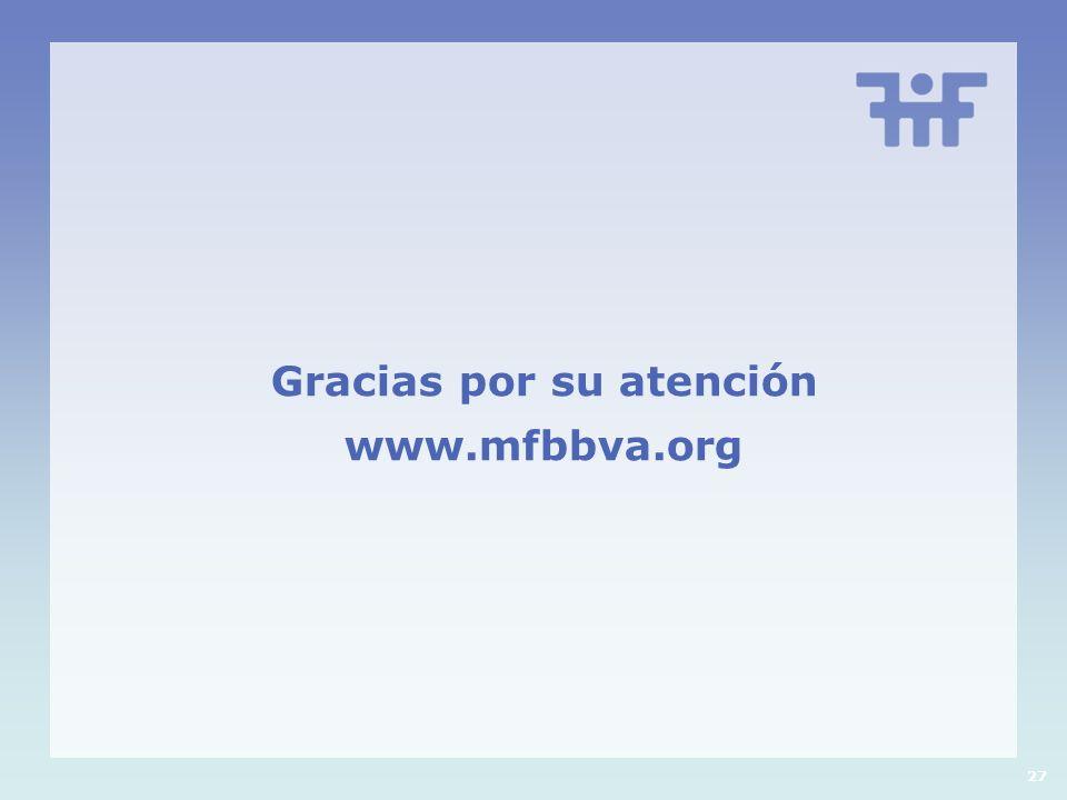 Gracias por su atención www.mfbbva.org 27