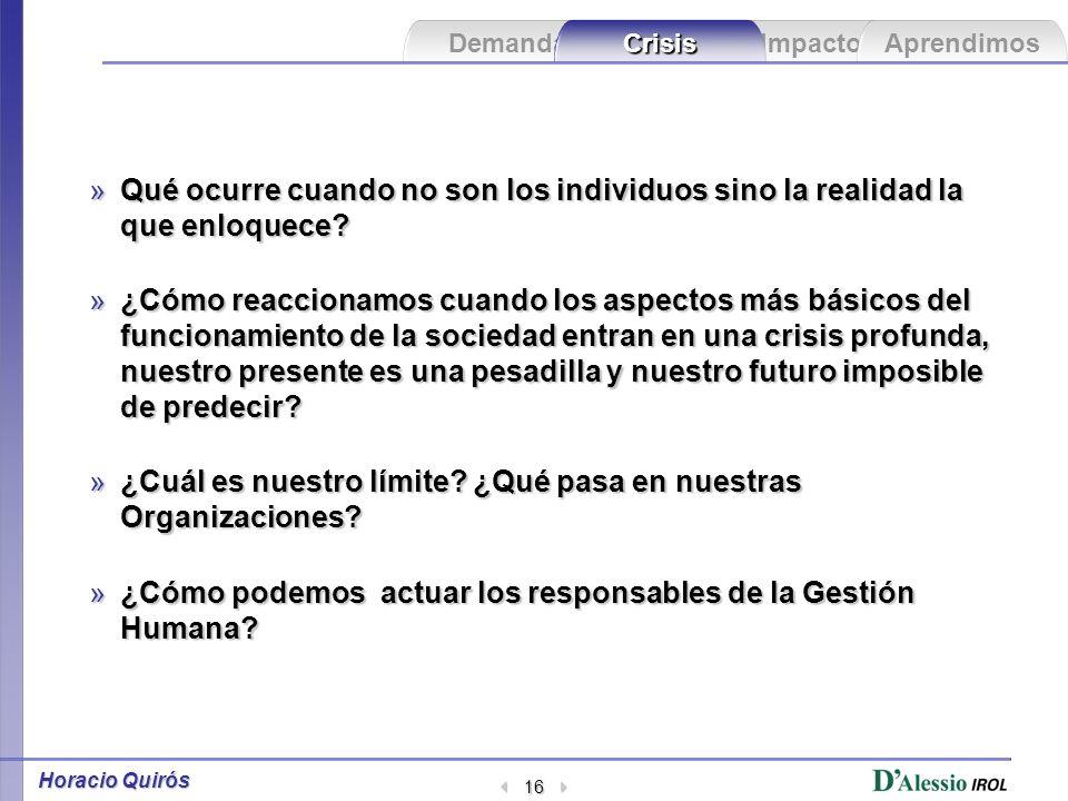 Impacto Aprendimos Demanda Crisis Horacio Quirós 15 ¿Cuáles han sido las crisis que más han afectado a las Entidades Financieras.