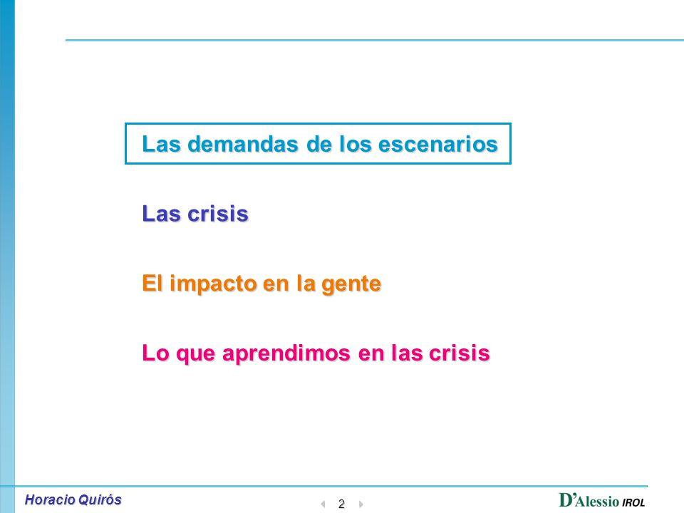 Horacio Quirós 1 Taller de los Recursos Humanos frente a situaciones de crisis CLADE- Abril 2007