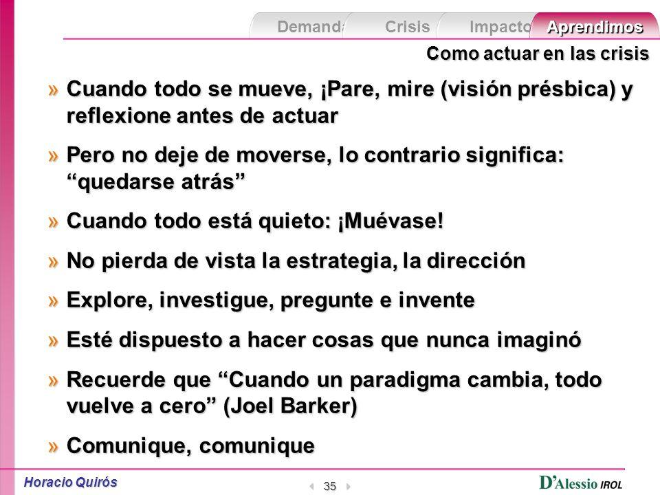 Demanda Crisis ImpactoAprendimos Horacio Quirós 34 Ver más allá de lo aparente