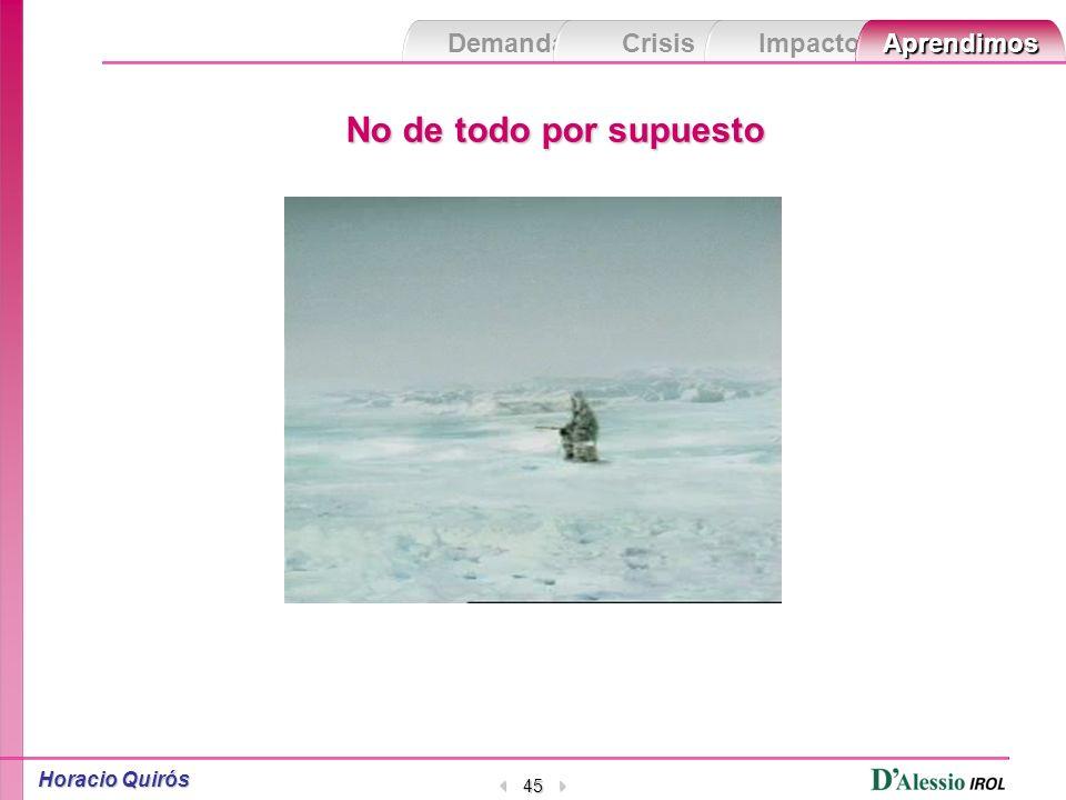 Demanda Crisis ImpactoAprendimos Horacio Quirós 44 No de todo por supuesto