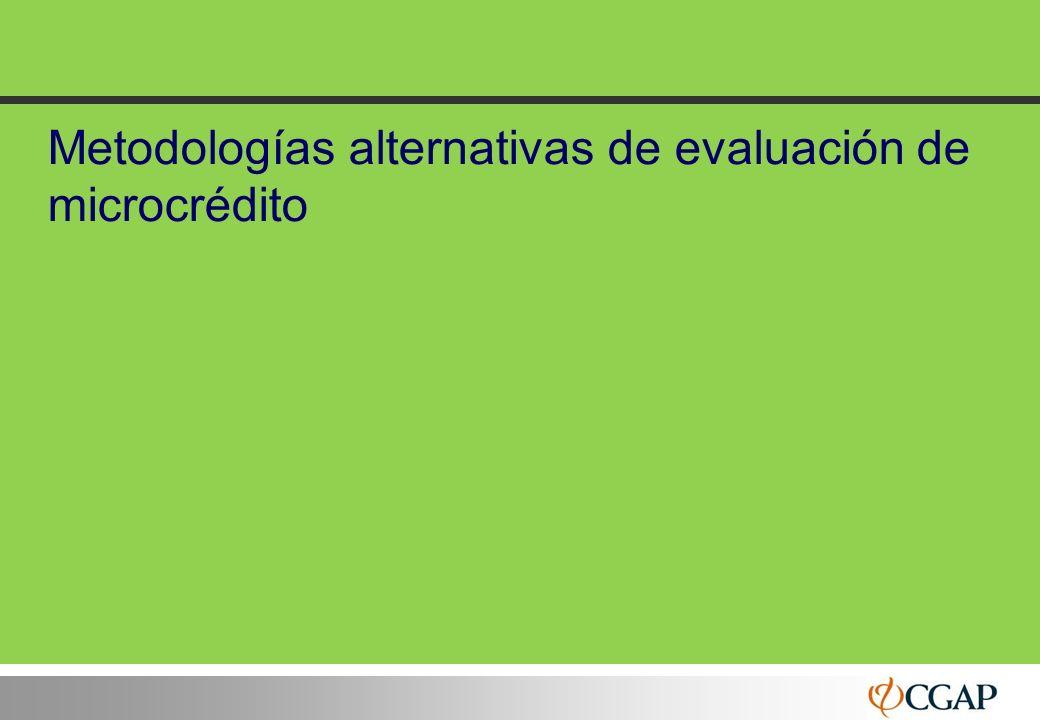 32 Metodologías alternativas de evaluación de microcrédito