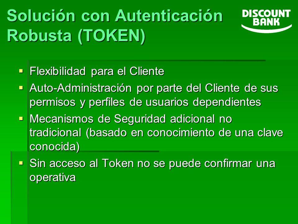 Flexibilidad para el Cliente Flexibilidad para el Cliente Auto-Administración por parte del Cliente de sus permisos y perfiles de usuarios dependiente