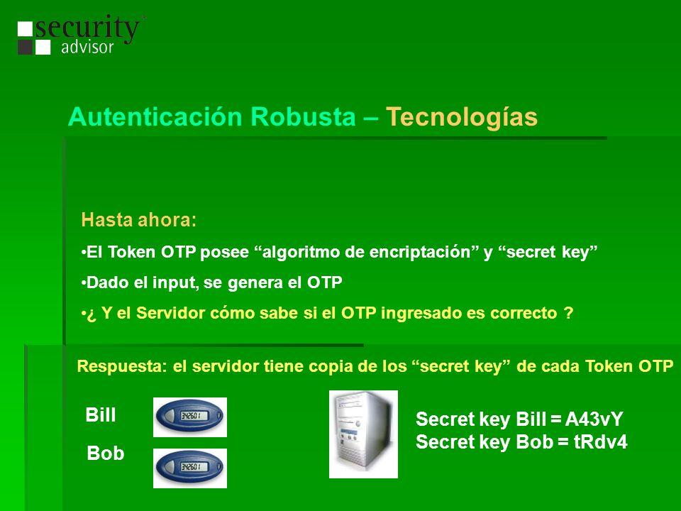 Hasta ahora: El Token OTP posee algoritmo de encriptación y secret key Dado el input, se genera el OTP ¿ Y el Servidor cómo sabe si el OTP ingresado e