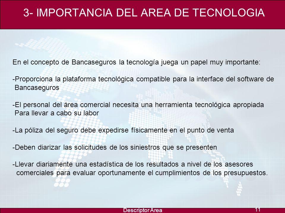 Descriptor Area 10 2- RED COMERCIAL Y CANALES ALTERNOS Autonomía e identidad del concepto Red Comercial alrededor del año 1993 La red física comercial