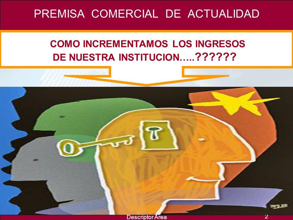 Descriptor Area 2 COMO INCREMENTAMOS LOS INGRESOS DE NUESTRA INSTITUCION…..