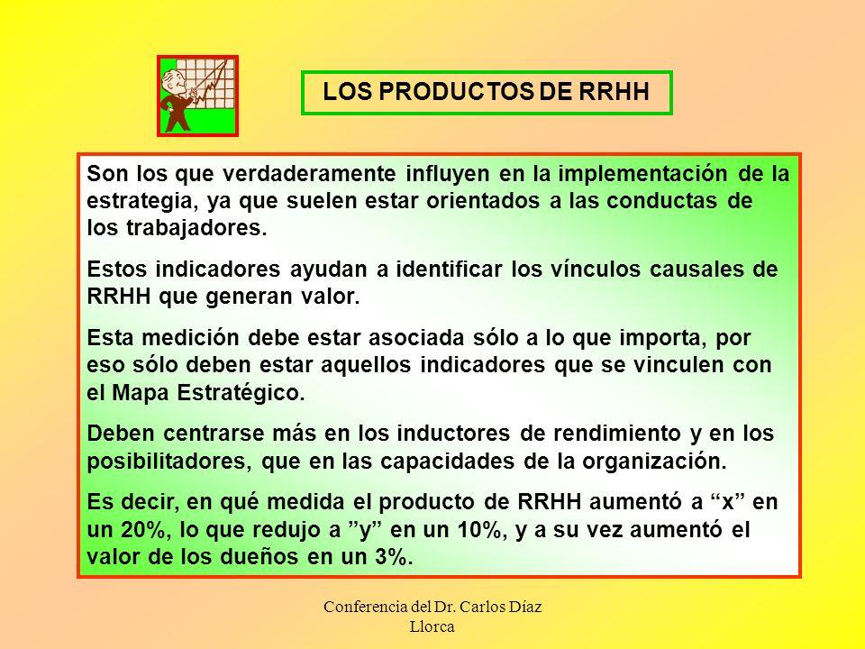 Conferencia del Dr. Carlos Díaz Llorca Son los que verdaderamente influyen en la implementación de la estrategia, ya que suelen estar orientados a las