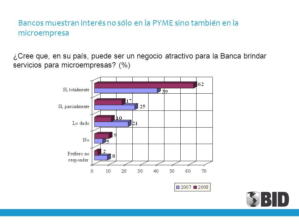 Bancos muestran interés no sólo en la PYME sino también en la microempresa ¿Cree que, en su país, puede ser un negocio atractivo para la Banca brindar