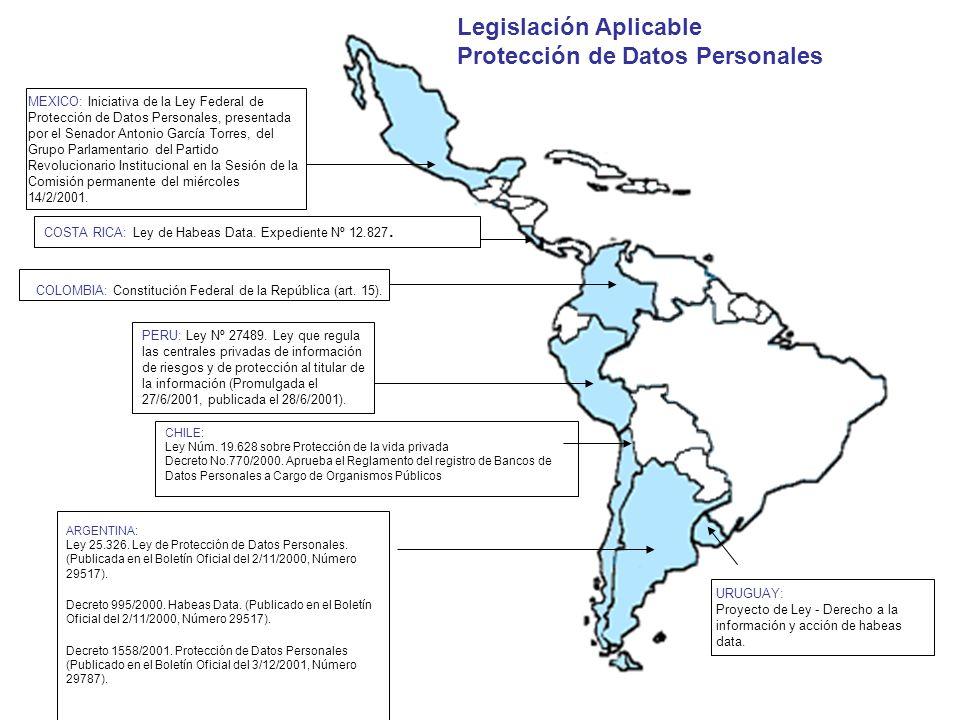 MEXICO: Iniciativa de la Ley Federal de Protección de Datos Personales, presentada por el Senador Antonio García Torres, del Grupo Parlamentario del P