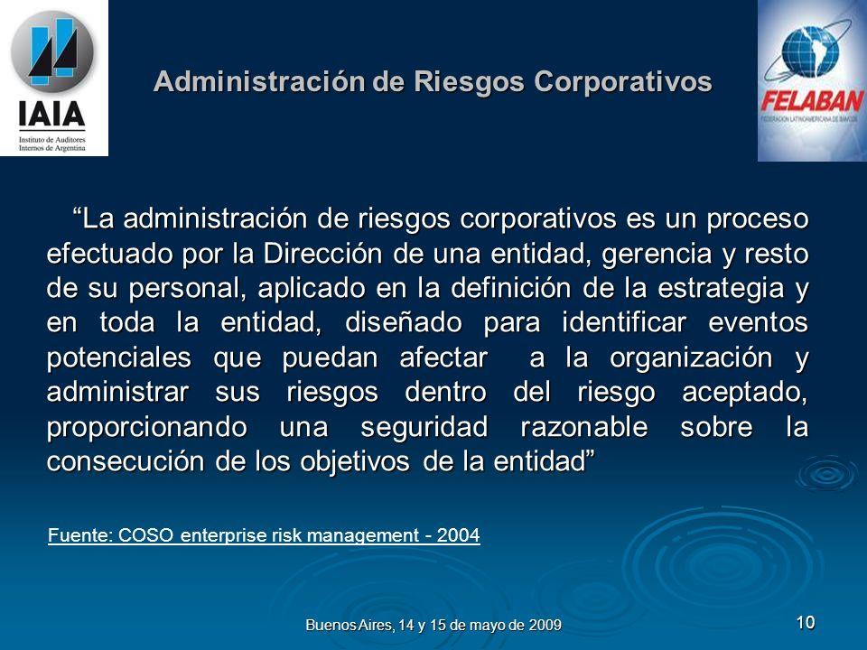 Buenos Aires, 14 y 15 de mayo de 2009 11 Gobierno y Liderazgo Efectivo Es un sistema por medio del cual las Compañías son conducidas de manera tal de garantizar la salvaguarda de los intereses de los propietarios y accionistas.