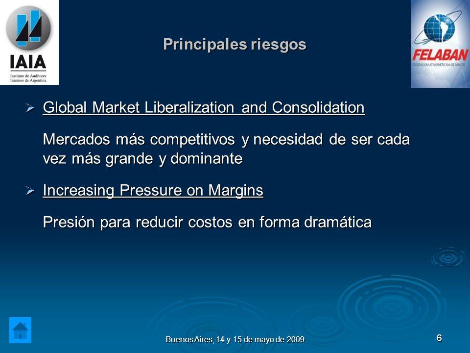 Buenos Aires, 14 y 15 de mayo de 2009 7 Principales riesgos Geopolitical Shocks Geopolitical Shocks Cambios en el escenario macroeconómico presentan serios desafíos en la definición de la estrategia.
