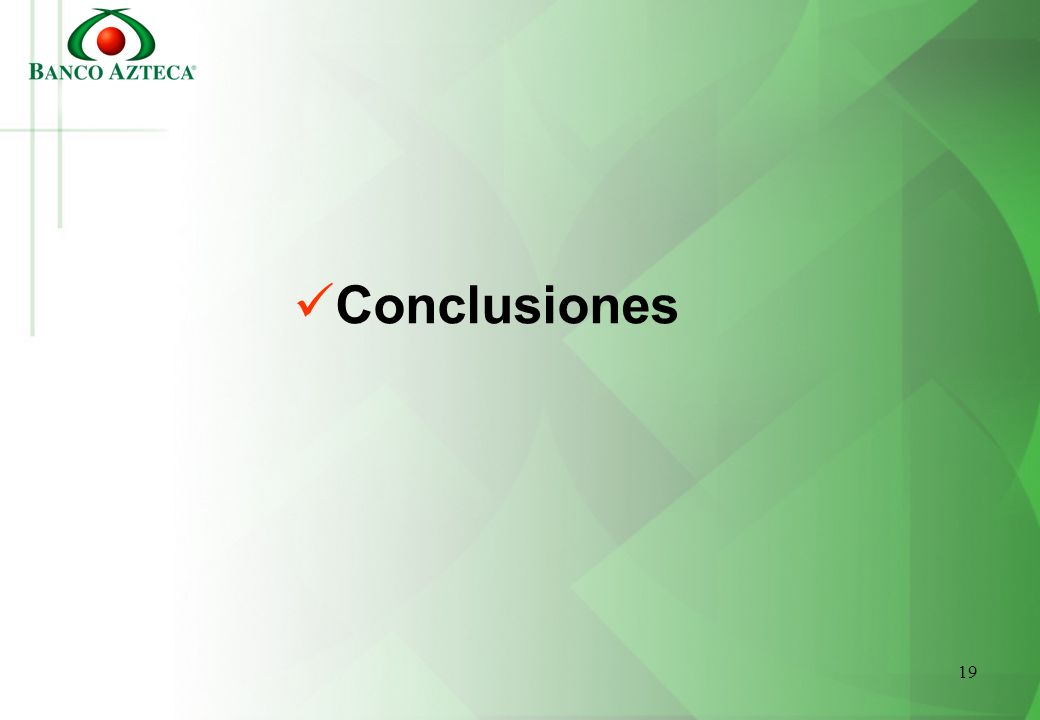 19 Conclusiones