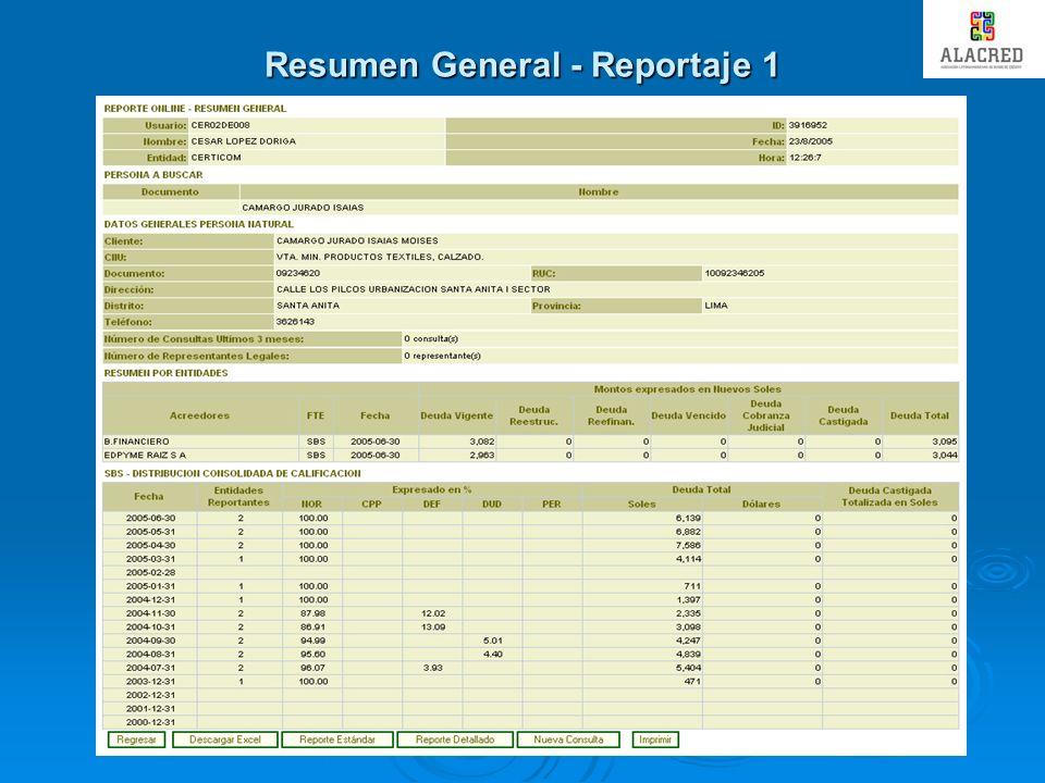 Resumen General - Reportaje 2