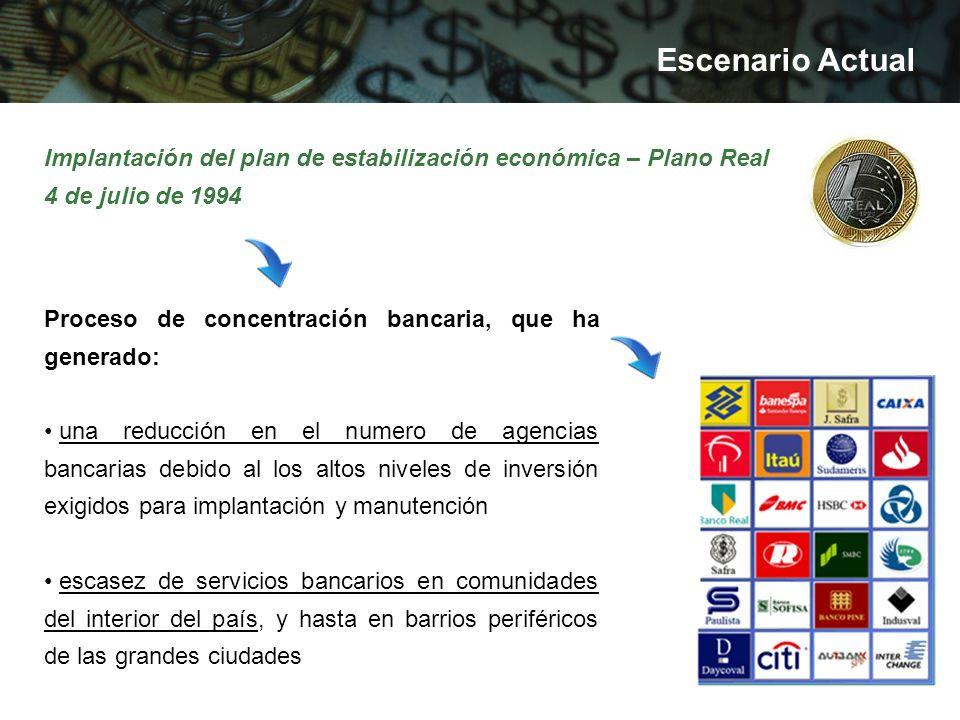 Corresponsal bancario en Brasil Alternativa brasileña para disponibilidad de servicios bancarios en ubicaciones donde no es económicamente viable la instalación de agencias o puntos de atención bancario.