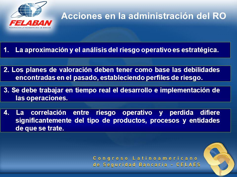 1.La aproximación y el análisis del riesgo operativo es estratégica. 2. Los planes de valoración deben tener como base las debilidades encontradas en