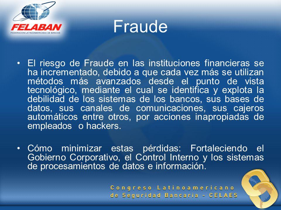 Fraude El riesgo de Fraude en las instituciones financieras se ha incrementado, debido a que cada vez más se utilizan métodos más avanzados desde el p