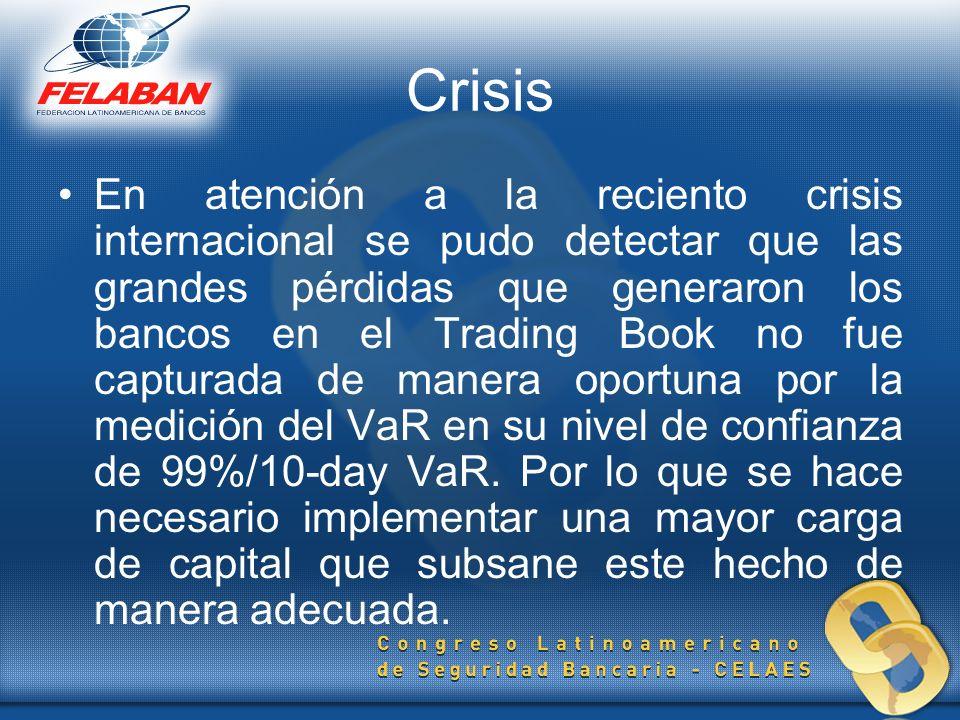 Crisis En atención a la reciento crisis internacional se pudo detectar que las grandes pérdidas que generaron los bancos en el Trading Book no fue cap