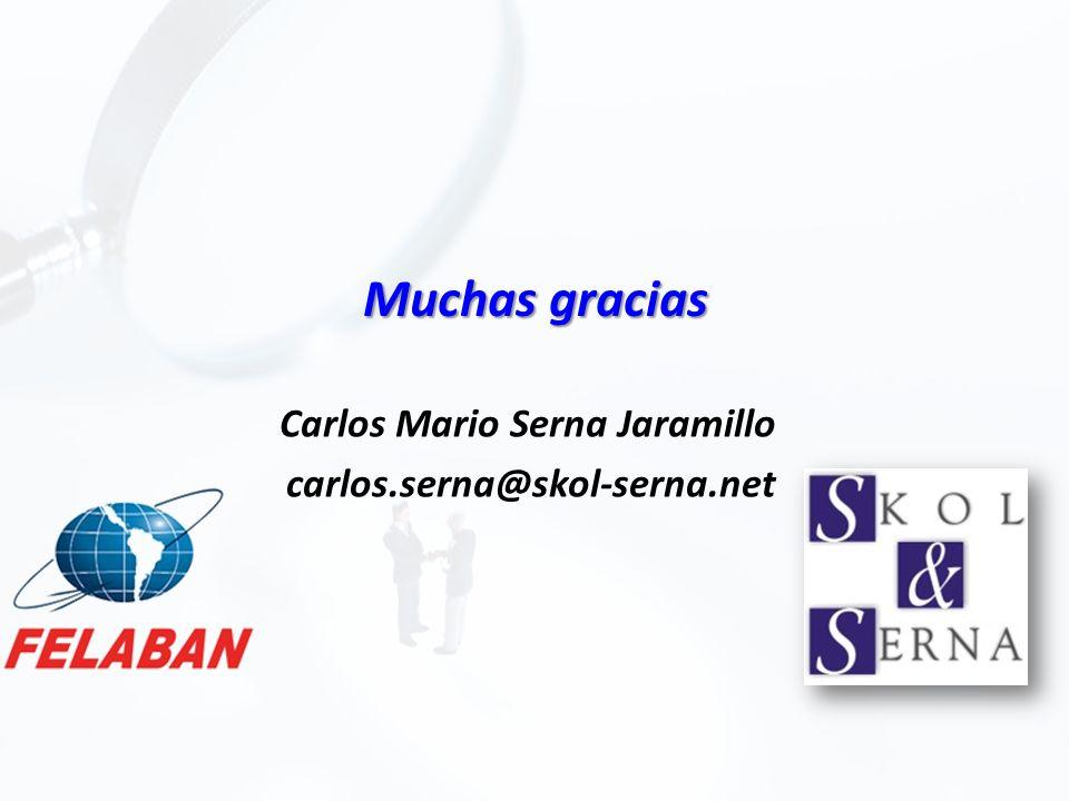 Muchas gracias Carlos Mario Serna Jaramillo carlos.serna@skol-serna.net