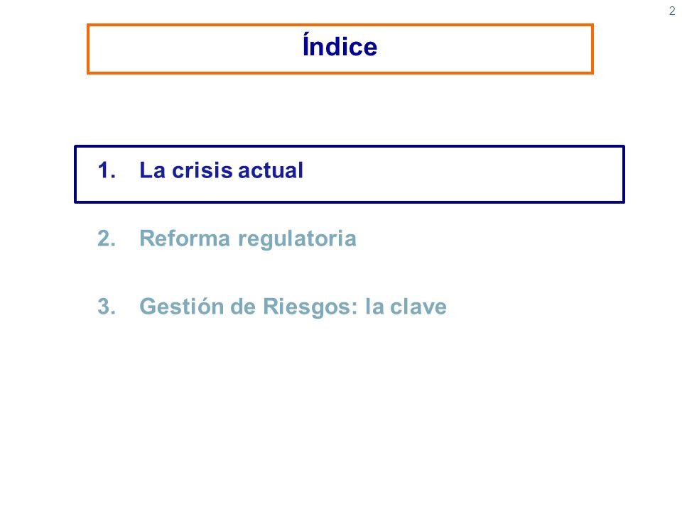 2 1.La crisis actual 2.Reforma regulatoria 3. Gestión de Riesgos: la clave Índice