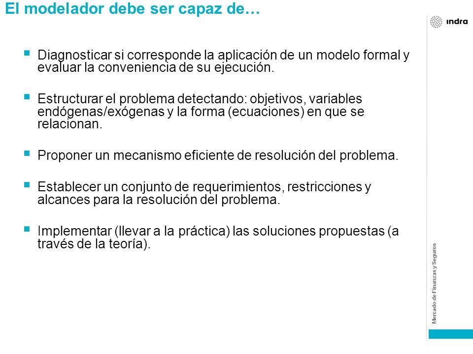 Mercado de Finanzas y Seguros Ciencias que apoyan las construcción de estos modelos: Comportamiento del consumidor (psicología, sociología) Economía (