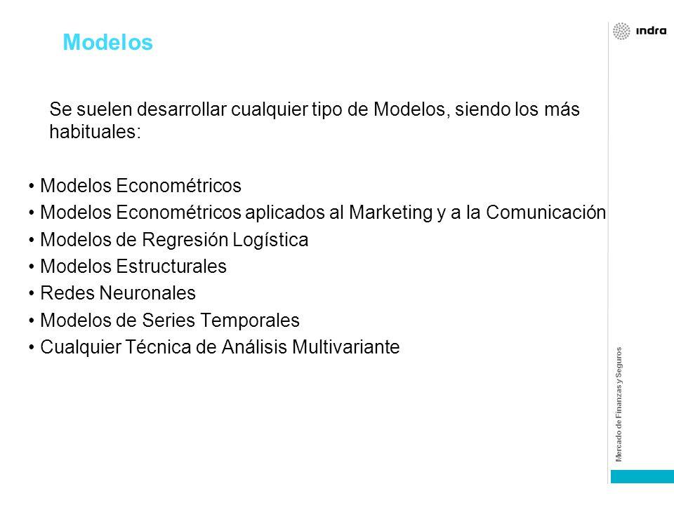 Mercado de Finanzas y Seguros Información que podemos dar a nuestras áreas usuarias en base a modelos :