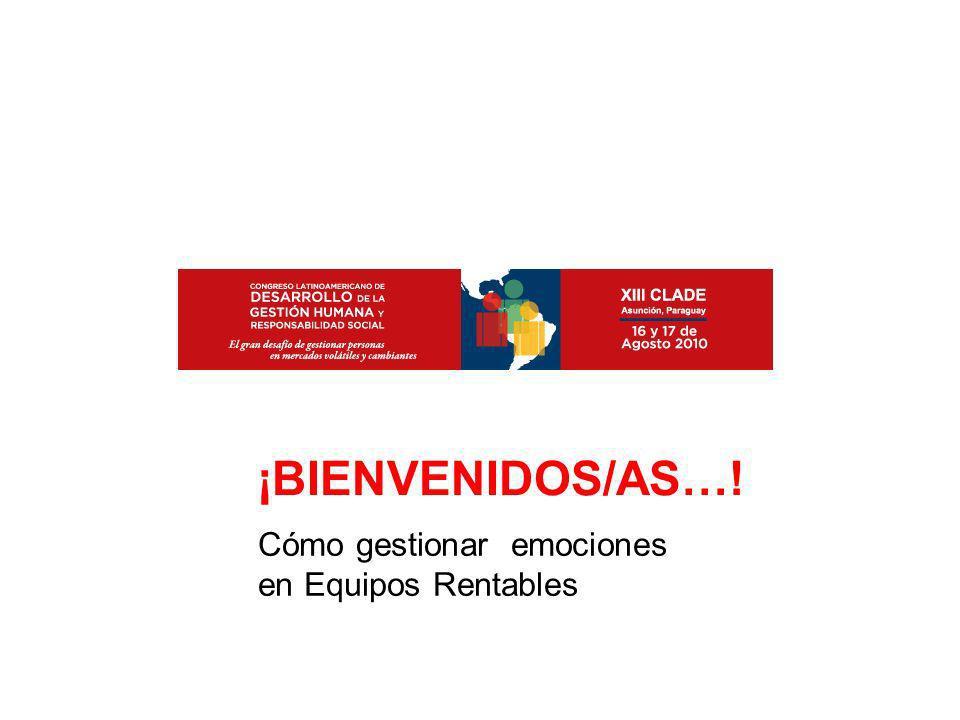 Cómo gestionar emociones en Equipos Rentables ¡BIENVENIDOS/AS…!