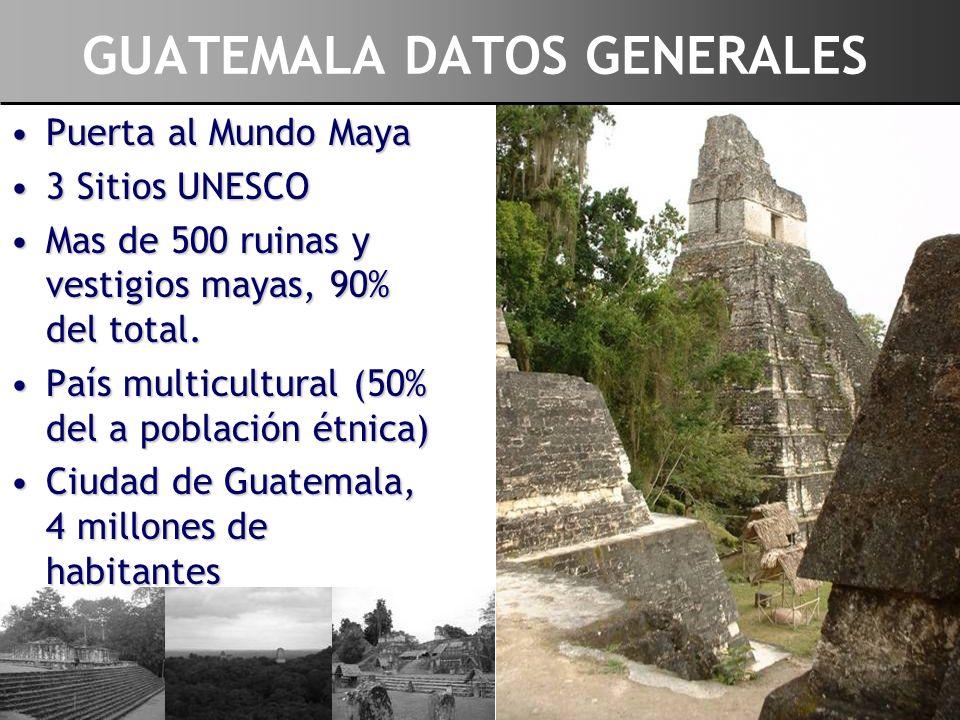 Puerta al Mundo MayaPuerta al Mundo Maya 3 Sitios UNESCO3 Sitios UNESCO Mas de 500 ruinas y vestigios mayas, 90% del total.Mas de 500 ruinas y vestigi