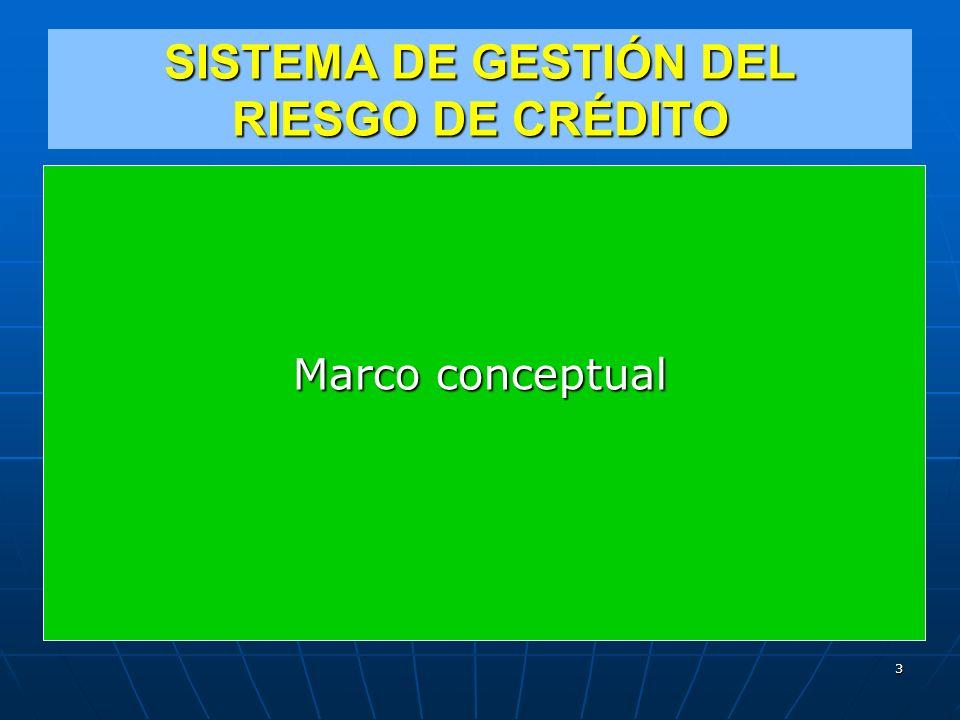 SISTEMA DE GESTIÓN DEL RIESGO DE CRÉDITO Marco conceptual 3