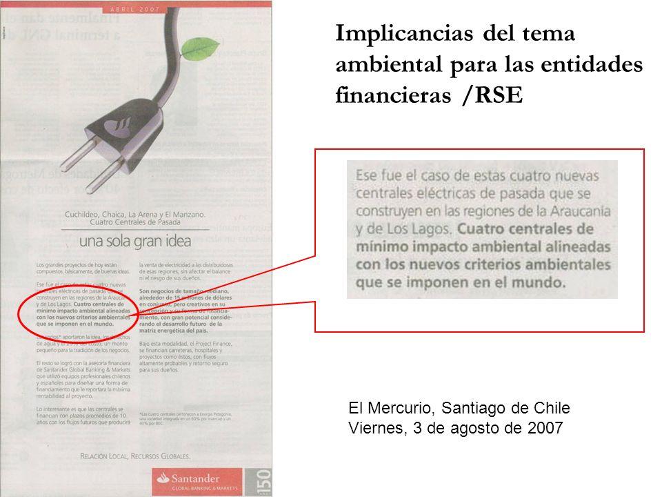 El Mercurio, Santiago de Chile Viernes, 3 de agosto de 2007